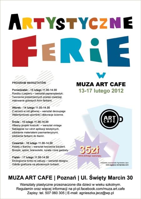 Artystyczne Ferie w Muza Art Cafe